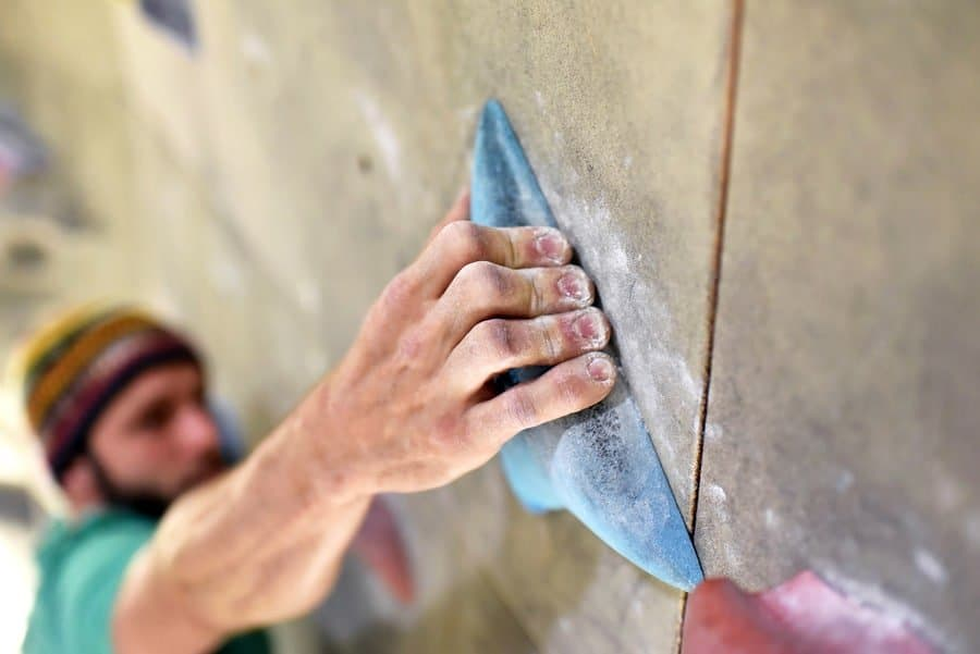 Klettern Technik Griff Fokus