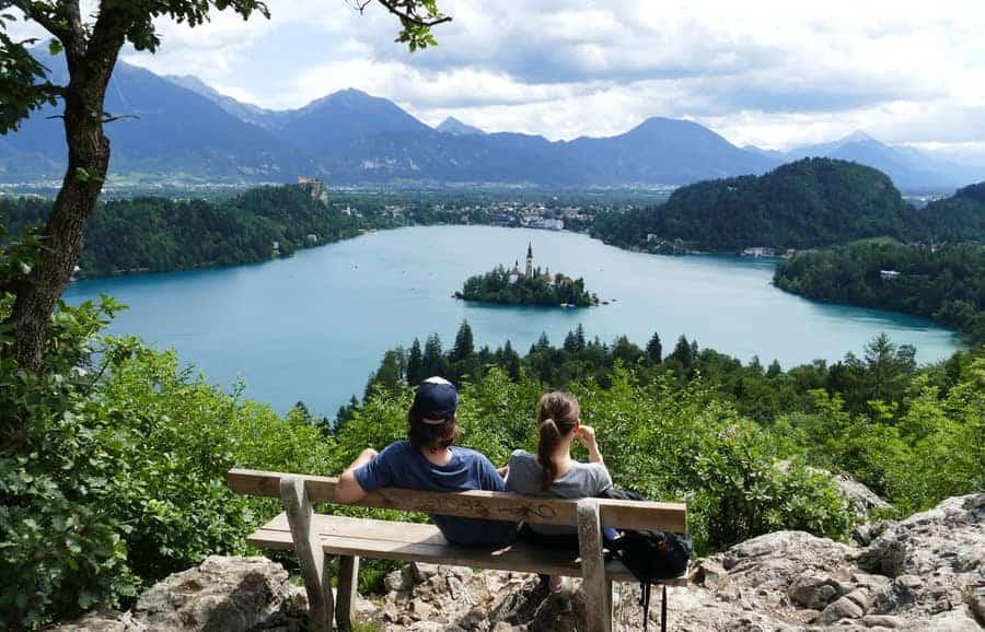 Klettern Bled Slowenien