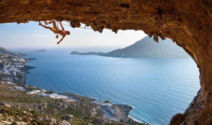Klettern Kalymons Griechenland