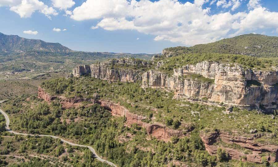Klettern Siruana Spanien