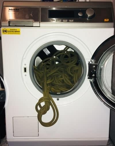 Kletterseil waschen Waschmaschine