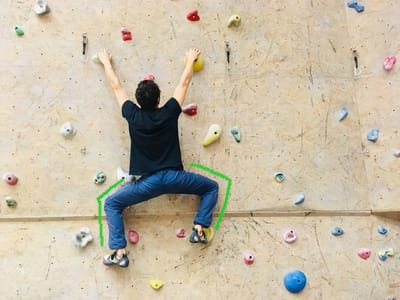 Klettertechnik tipps Überstreckt