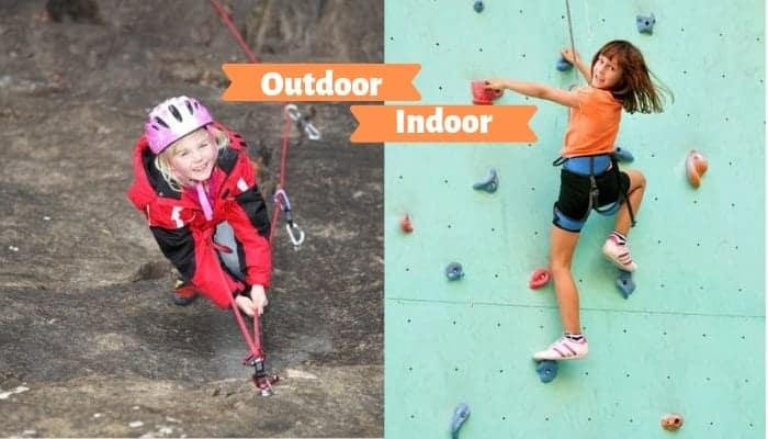 Klettern mit Kindern outdoor oder indoor
