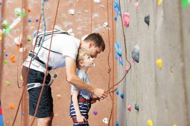 Klettern-mit-Kindern-Sicherung