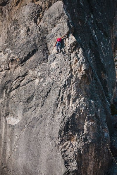Felsklettern lange routen