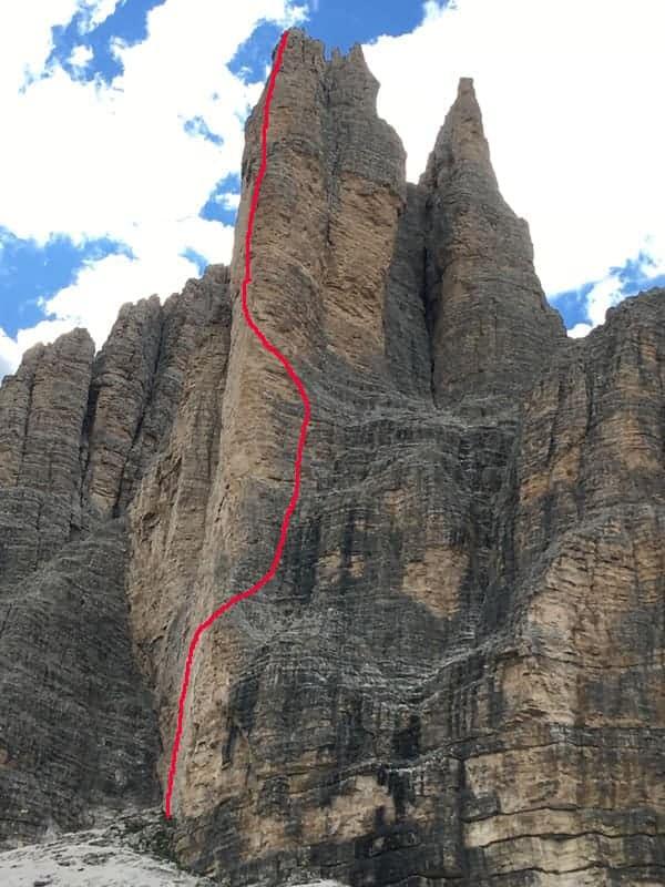 Mehrseillängen Klettern Topo