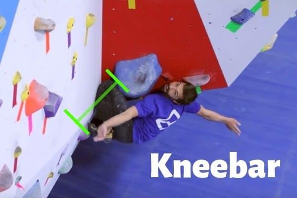 Bouldertechnik-Kneebar-Knieklemme