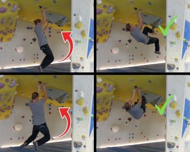 Bouldertechnik-Überhang-Training