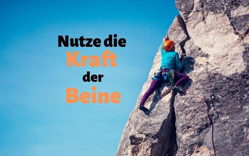 Klettertechnik-Bouldertechnik-Beinarbeit
