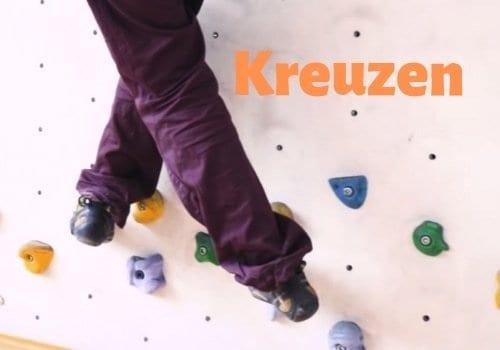 Klettertechnik-Bouldertechnik-Kreuzen